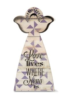 Pavilion Gift Company 31047 Love Lives Where Nana Is Angel Plaque, 7' * Click image for more details-affiliate link. #Plaques