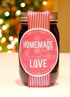 """""""Homemade with Christmas Love"""" printable"""