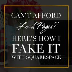 Can't Afford LeadPages™? Here's How I 'Fake It' With Squarespace & Mailchimp — Anjelica Dezel- The Designer Brand Coach