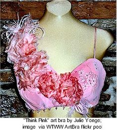 bra decorating for breast cancer pictures - Google Search