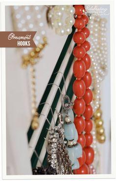 Shutter Jewelry Organizer Ornament hooks Stylish jewelry and Ornament