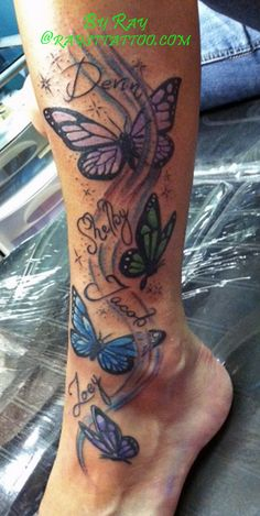 Butterfly kids Tattoo