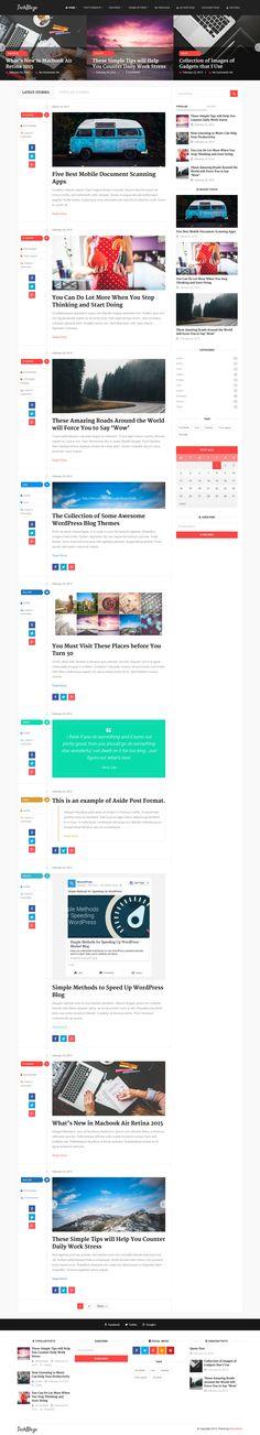 TechBlaze - Professional WordPress Blog Theme #web #wptheme #wordpress Live Preview and Download: http://ksioks.com/portfolio/techblaze-professional-wordpress-blog-theme/