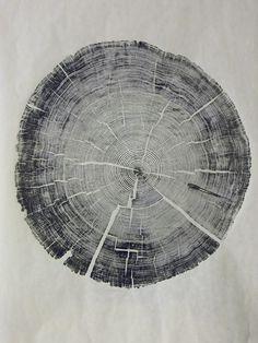 Tree art rubbings or prints