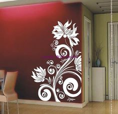 FlowersVinyl Wall Decal Vinyl Wall Art Stickers by LovelyWallDecal, $28.00