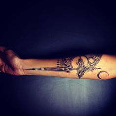 Phillip Millic of Old Crow Tattoo design -- athame tattoo, with wing -- so proud to show this off!!!
