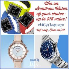 Powered by Mom's Armitron Watch Guest Giveaway Open to US Only – Ends 10/23 Whether you're looking for a watch for yourself, the kids, grandparents or really anyone you want to check out an Armitron Watch. They have something for everyone and every budget. This great giveaway is sponsored by Armitron and hosted by Mom Does …