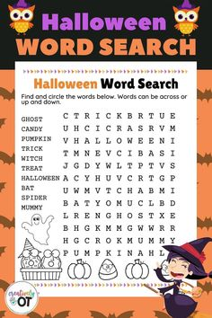 Halloween Word Search and Scramble: Printable Halloween Worksheets