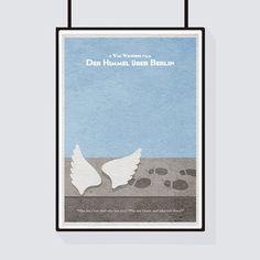 Der Himmel über Berlin (Wings of Desire) Minimalist Alternative Movie Print    Poster 2d231f5e53e