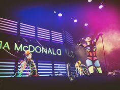 Tara McDonald wearing Simon Preen live on stage Space club, Moscow dec 2016