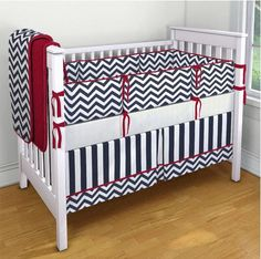 Bedding for Anastasia http://www.etsy.com/listing/152330906/blue-and-white-stripe-and-chevron-with