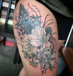 #wildflower #bouquet for Libby @wonderlandpdx #flowers #flowertattoo