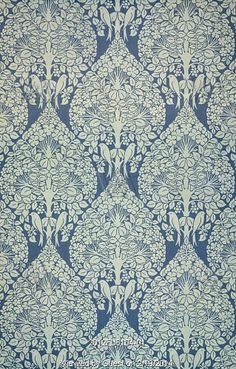 Portion of The Lerena wallpaper, designed by C.F.A. Voysey. Essex, England, late 19th century