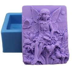"""Allforhome 3.5"""" Fairy Flowers Craft Art Silicone Soap mould Craft Molds DIY"""