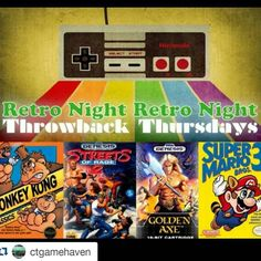By shinbojack: Heads-up for any #retrogaming fans in the Fairfield County area - @ctgamehaven will be hosting their weekly #ThrowbackThursday event this Thursday. Stop on by and play some NES Genesis N64 and SEGA Saturn classics! $10 to play from 6-10pm #