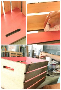 diy wood crate bookcase - paint the inside one color and the outside another? Cool Woodworking Projects, Wood Projects, Furniture Making, Diy Furniture, Crate Bookcase, Diy Wooden Crate, Wood Headboard, Headboard Ideas, Wood Crates
