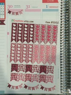 Cheetah Flag Planner Stickers  EC Planner Stickers  by 21Creations