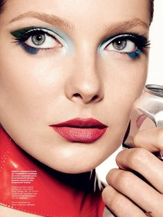 eniko mihalik beauty shoot4 Eniko Mihalik Models Glam Beauty for Allure Russia August 2013 by Walter Chin