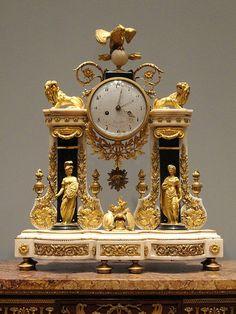 Reloj Portico, de 1780-1790, Francés, oro, esmalte - Cleveland Museum