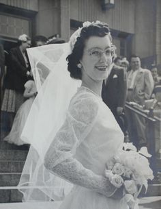 vintage bride with glasses - Google Search