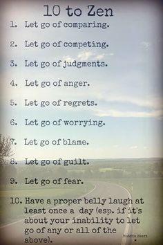 10 to Zen - the ultimate bucket list