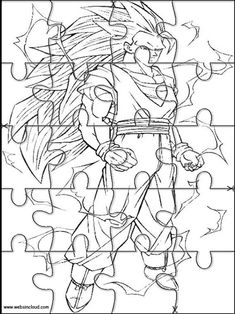 Printable jigsaw puzzles to cut out for kids Dragon Ball Z 93