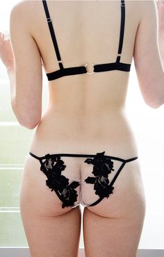 SJ Lingerie Raw lace bralette and briefs