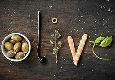 Food typography by Marion Luttenberger Food Typography, Typography Design, Typography Served, Typography Letters, Think Food, Love Food, Food Type, Food Photography Styling, Food Styling