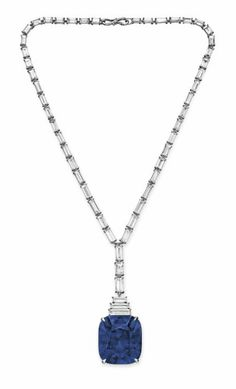 An important sapphire and diamond pendant necklace