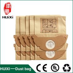 Paper dust bags and filter change bags with high efficiency of vacuum cleaner parts for MV2  WD2.000-WD2.399 etc