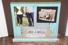 homemade wedding gift picture collage Homemade Wedding Gifts, Homemade Gifts, Crafts To Do, Arts And Crafts, Diy Crafts, Wedding Fun, Small Space, Nifty, Tea Party
