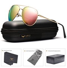 f691c6d8c35 LUENX Aviator Sunglasses Mens Polarized with Case UV 400 Protection  Description Product Features UVA UVB Protection Polarized lens that filter