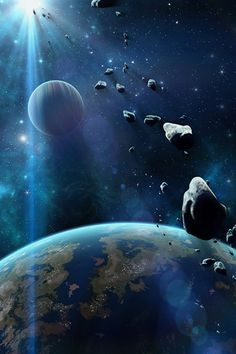 Asteroid Collision iPhone Wallpaper HD