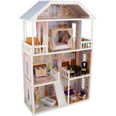 Wunderschönes Puppenhaus für stundenlangen Spielspaß für kleine Prinzessinnen.