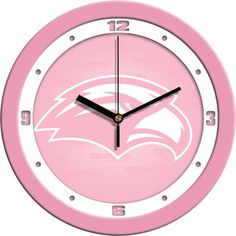 NCAA Southern Mississippi Eagles Pink Wall Clock
