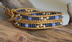 Wrap Bracelet, Aqua Golden Double Wrap, Leather Wrap, 2xWrap, Wrap Around Bracelet, Boho Bohemian, Handwoven Feminine, Jewelry By Yevga by JewelryByYevga on Etsy https://www.etsy.com/listing/253304509/
