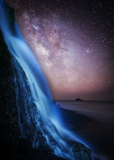 Milky Way- Alamere Falls, Point Reyes National Seashore, California, United States