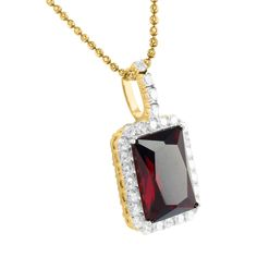 Sterling Silver Yellow Gold Finish Burmese Red Ruby Birdman Pendant Ch | Masterofbling