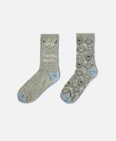 Oysho - 2-pack of grey Monsters socks