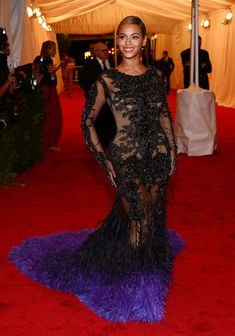 "Beyonce Knowles attends the ""Schiaparelli And Prada: Impossible Conversations"" Costume Institute Gala at the Metropolitan Museum of Art - May 2012"