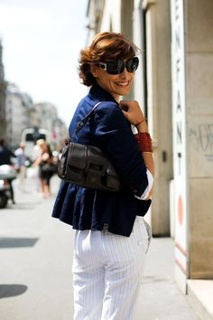 Ines de la Fressange after a day of shopping in Paris