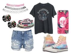 """Untitled #268"" by the-indie-rock-queen ❤ liked on Polyvore featuring Aéropostale, Casetify, Converse, Wet Seal, Summer, Pink and grunge"