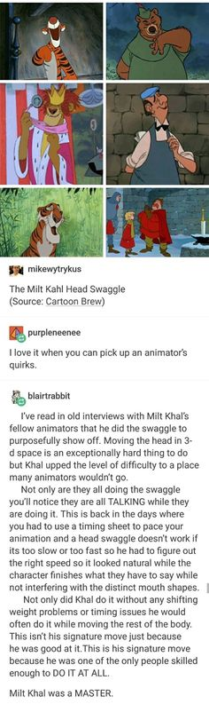 The Milt Kahl Head Swaggle animation Disney great animator Disney Pixar, Disney Memes, Disney Animation, Disney And Dreamworks, Walt Disney, Funny Disney, Disney Art, Disney Love, Disney Magic