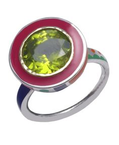 Memphis in peridot with Fairtrade silver & 14ct gold