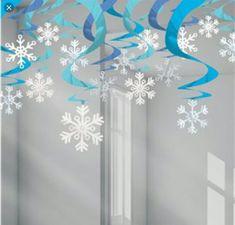 Blue Snowflake Hanging Swirls - (pack of Hanging christmas decorations, snowflake decorations, christmas party decorations - Happy Christmas - Noel 2020 ideas-Happy New Year-Christmas Christmas Ceiling Decorations, Snowflake Decorations, School Decorations, Valentines Day Decorations, Decorating With Snowflakes, Hanging Decorations, Diy Christmas Snowflakes, Snowflake Craft, Christmas Art