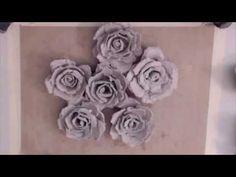 Paper Egg Carton Flowers - YouTube