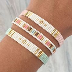 Tuto Bracelet Perle Miyuki Nouveau Pdf Beaded Bracelet Ekaterina Beading Pattern by Beadsmadness Loom Bracelet Patterns, Bead Loom Bracelets, Bead Loom Patterns, Beading Patterns, Beading Ideas, Beading Supplies, Silver Bracelets, Jewelry Bracelets, Diy Bracelet