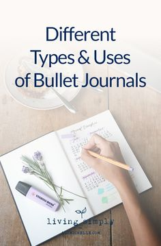 There are countless different types and uses of bullet journals. In fact, it's likely the most personalized way to journal, plan, and keep track of nearly all aspects of your busy life. #BulletJournal #Journaling . . . from Living Simply, a personal growth and mental health blog providing strategies to strengthen resilience, self-worth, and positivity for more balanced mental health and a happier, more fulfilling life.