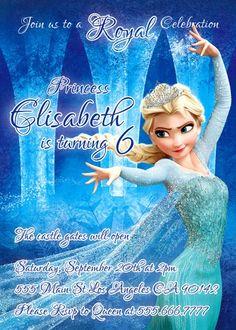 Frozen invitation Frozen printable Frozen Princess by BogdanDesign Frozen Princess, Royal Princess, Disney Princess, Frozen Birthday Party, Birthday Parties, Birthday Ideas, Frozen Invitations, Birthday Activities, Best Part Of Me