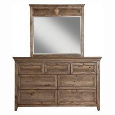 Origins by Alpine Remington 7-Drawer Dresser with Optional Mirror - ORIG009